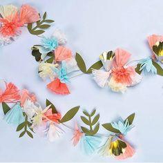 Loving this Meri meri flower garland. https://www.buildabirthday.co.nz/products/flowerbouquetgarland #buildabirthday #partysuppliesnz #merimeri #floralparty