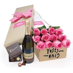 12_Roses_40gChocs_Chandon.jpg (600×600) ❤ liked on Polyvore featuring fillers and accessories