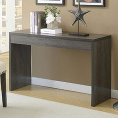 Convenience Concepts Northfield Wall Console Table, As Shown