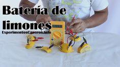 batería de limón, pila de limones, experimentos caseros