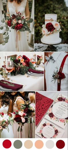 Wedding decor burgundy Wedding decor burgundy decorations red, dark red and peach lush floral wedding colors - - February Wedding Colors, Peach Wedding Colors, Wedding Color Schemes, Floral Wedding, Peach Wedding Decor, February Colors, Red Wedding Flowers, Floral Flowers, Trendy Wedding