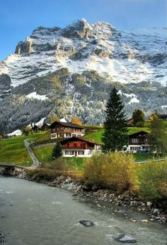 Swiss Village - Jungfrau region, Berner Oberland www. Beautiful Places To Travel, Wonderful Places, Beautiful World, La Provence France, Places Around The World, Nature Pictures, Dream Vacations, Beautiful Landscapes, Wonders Of The World