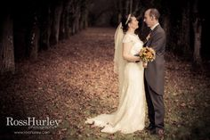 Formal portrait of brand new husband and wide during a gorgeous chateaux wedding! www.rosshurley.com