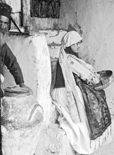 Woman with sieve. Benaki Museum, Chios, Greece Travel, Folk, The Past, Greek, Traditional, Woman, Painting