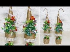 Christmas tree made of jute. DIY Crafts and Christmas presents. Christmas Treats For Gifts, Great Christmas Presents, Why Christmas, Christmas Crafts, Christmas Decorations, Xmas, Christmas Ornaments, Holiday Decor, Diy Crafts Videos