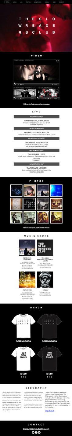 Our new website www.theslowreadersclub.co.uk Website, Musica
