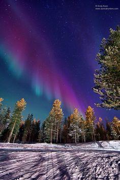 Multi color Aurora borealis