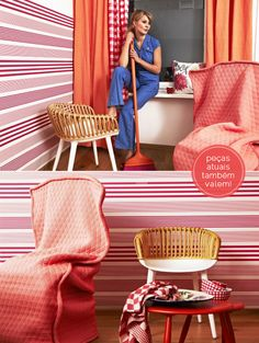 striped walls + vintage look