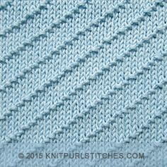 [Knitting in the round] Diagonal Seed Stitch - Knit and purl combinations