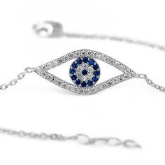 925 Ayar Gümüş Göz Bileklik