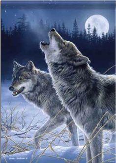 Wolves Winter Garden Flag