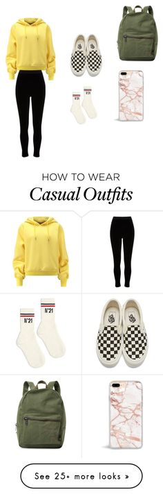 """casual"" by casl21 on Polyvore featuring River Island, Vans, N°21 and Herschel Supply Co."