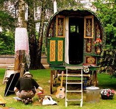 caravan turned studio