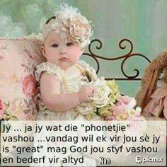 Ja jy ..... Good Night Wishes, Good Morning Good Night, Lekker Dag, Afrikaanse Quotes, Goeie More, Every Girl, Flower Girl Dresses, Faith, Wedding Dresses