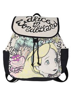 Disney Alice In Wonderland Sketch Slouch Backpack | Hot Topic
