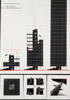 Avvakumov Y. ,Belov M.    Sepulchral Skyscraper or Metropolitan Self-elevating Columbarium. 1983