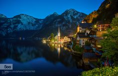 Hallstatt Blue Hour - Pinned by Mak Khalaf Hallstatt Blue Hour Hallstatt Austria This photo I took during the blue hour at Hallstatt. Well actually I blended 4 photos together that I all took after sunset. As always I hope you like it. If you like this photo you might also like my 500px set of reflection photos. Follow me on Facebook if you want for even more photos. Landscapes AustriaHallstattarchitectureblueblue…