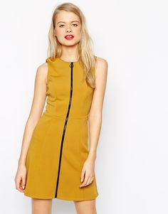 ASOS A-Line Skater Dress with Zip Front