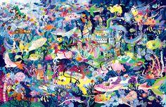 ホラグチカヨ イラストギャラリー Naive Art, Ikon, Folk Art, Cartoon, Wallpaper, Painting, Color, Illustrations, Kunst