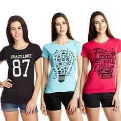 Velvet Women's Graphic Print T-shirt Online at Best Price in India