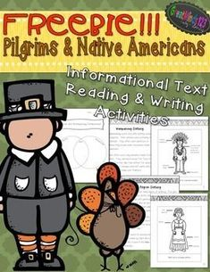 FREEBIE. We hope you enjoy these free sample pages from our Thanksgiving Unit!Includes:1-page text on Pilgrim Clothing1-page Pilgrim Clothing Diagram1-page text on Native American Clothing1-page Native American Diagram Compare and Contrast Worksheet. Download this great FREE resource at: https://www.teacherspayteachers.com/Product/Thanksgiving-Activities-FREE-Pilgrims-Native-Americans-Informational-Texts-1535468