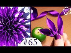 Острый лепесток Канзаши Мастер Класс / Все лепестки Канзаши #65 - YouTube