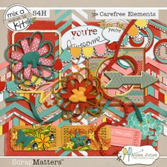 Carefree Elements by Alissa Jones (MAK)  Carefree Papers by Alissa Jones (MAK)  http://shop.scrapmatters.com/product.php?productid=11721=0=1