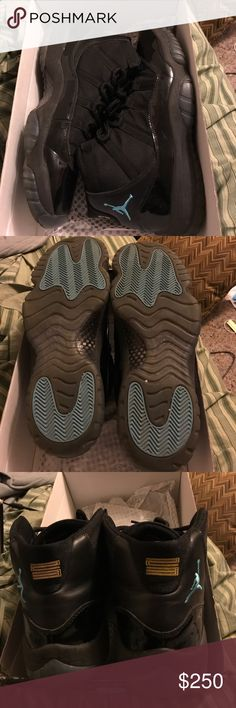 Jordan retro 11 gamma Jordan retro 11 gamma, very good condition 8.5/10. Only flaw is the sole is starting to peel back I added a pic of it. No plastic inserts. Any questions just ask me Jordan Shoes Sneakers