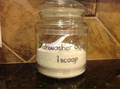 Modern Simplicity: DIY Dishwasher Soap that Actually Works! Homemade Cleaning Supplies, Diy Home Cleaning, Cleaning Recipes, Diy Supplies, Green Cleaning, Cleaning Hacks, Diy Cleaners, Cleaners Homemade, Washing Soda