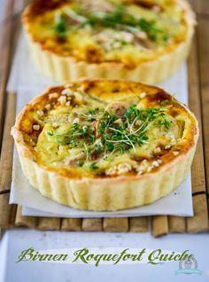 Birnen Roquefort Quiche #ichbacksmir #quiche