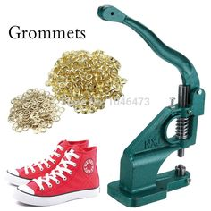 51.99$  Buy now - (Ship from germany) Grommet Machine Eyelet Hand Pressor Tool For Banner Bags Shoes Button Maker +3 Die & Free 900 Grommets  #aliexpressideas