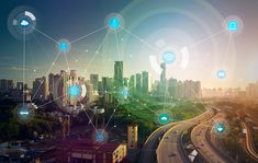 smart city and wireless communication network, abstract image visual, internet of things What Is Html, Wi Fi, Communication Networks, Smart City, Blockchain Technology, Abstract Images, Future City, Architecture, Web Design
