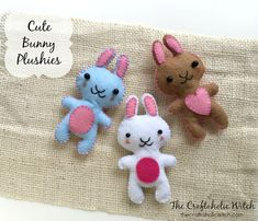Make these cute felt bunnies this Easter. A fun craft to try out with the kids!