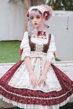 LolitaWardtobe - Bring You the latest Lolita dresses, coats, shoes, bags etc from Trustworthy Taobao indie Brands. We never resell Lolita items from untrustworthy Taobao stores. Harajuku Fashion, Kawaii Fashion, Lolita Fashion, Cute Fashion, Rock Fashion, Harajuku Girls, Fashion Styles, Fashion Boots, Fashion Fashion