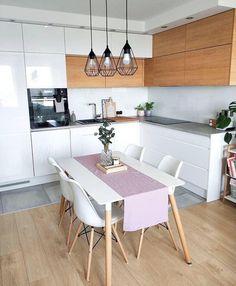 34 Awesome Scandinavian Dining Room Design And Decor Ideas Home Decor Kitchen, Interior Design Kitchen, Home Kitchens, Dining Room Colors, Dining Room Design, Dining Room Inspiration, Interior Inspiration, Cuisines Design, Küchen Design