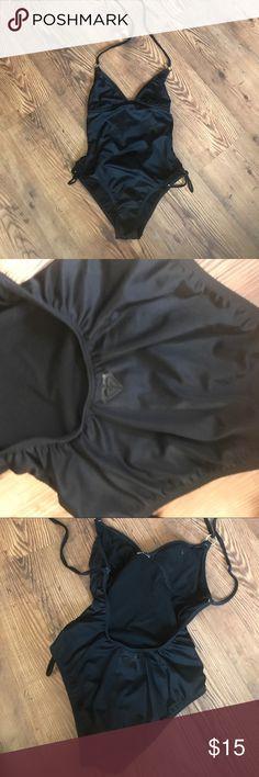 ROXY One Piece Swimsuit Great condition, black, gold hardware. Roxy Swim One Pieces