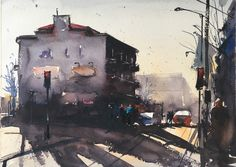 Stefan Gadnell present his watercolors and arts. Drawing Sketches, Drawings, Painting & Drawing, Cities, Watercolor, Pen And Wash, Watercolor Painting, Sketches, Watercolour