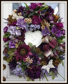 Country French Decorative Door Wreath