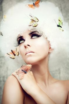 Let me be your butterfly by Anja Röhrich this is stunning I love the lus long lashes!