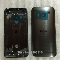 New Original Gray for HTC One M9 Housing Chassis Frame Back Battery Door Cover Case + Camera Lens with Logo
