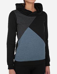 Keregan - Hoody Colourblock schwarz, farbe