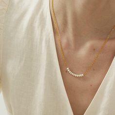 Beaded Dainty Pearl Minimalist Jewelry – klozetstyle.com