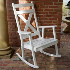 Porchgate Amish Made Haven White Rocking Chair