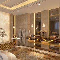 Glamorous and exciting luxury bathroom interior decor needs the perfect lighting fixture. See our entire collection at Luxury Master Bathrooms, Bathroom Design Luxury, Dream Bathrooms, Master Baths, Bath Design, Modern Bathroom Lighting, Bathroom Styling, Bathroom Ideas, Bath Ideas