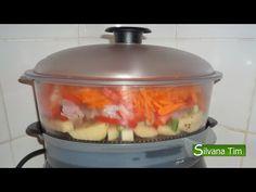 ARROZ INTEGRAL con  mix de verduras en Vaporera. Receta vegetariana - YouTube Rice Cooker, Slow Cooker, Menu Planning, Crockpot, Recipes, Youtube, Food, Yum Yum, Salad