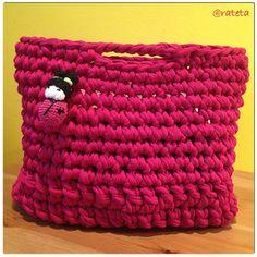 My own crafty bag!  T-shirt yarn