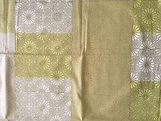 "Marimekko Fabric ""KIOTO"" in greens - 43"" x 56"" - Design by Maija Isola"