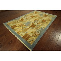 Manhattan Hand-knotted Persian -colored Gabbeh Area Rug