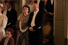 Margaret (Arwen Humphreys) and Thomas Brackenreid (Thomas Craig) watch a performance of The Little Match Girl.