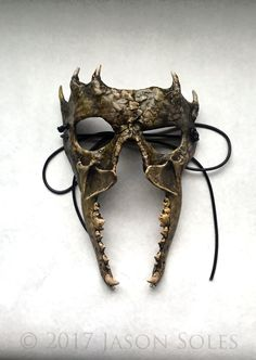 Hunter's Mask by MrSoles Epoxy putty, coyote jaw, and wolves teeth. Painted with acrylics, inks, and watercolors. Larp, Cosplay, Hunting Painting, Steampunk Mask, Grandeur Nature, Armadura Medieval, Arte Obscura, Cool Masks, Masks Art